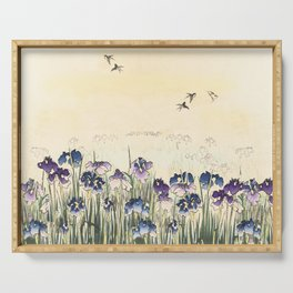 Iris meadow Serving Tray