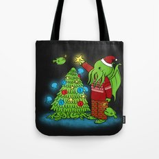 Cthulhu's Happy Holidays Tote Bag