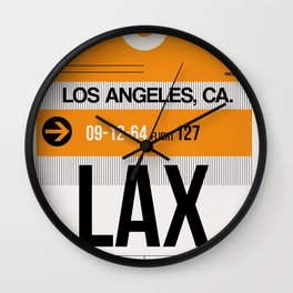 LAX Los Angeles Luggage Tag 2 Wall Clock