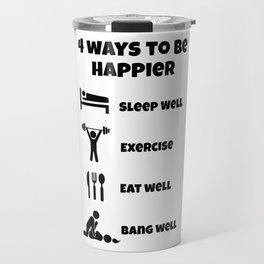 way luck sleeping training eating sex gift Travel Mug