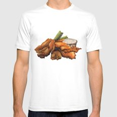 Buffalo Chicken Mens Fitted Tee MEDIUM White