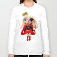 supergirl Long Sleeve T-shirts featuring Kara Zoe-El ~ Supergirl by Chiara Venice Art Dolls