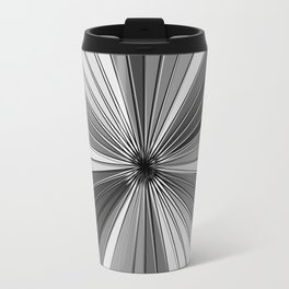 Color Burst IV (Black and White // Gray Scale) Travel Mug
