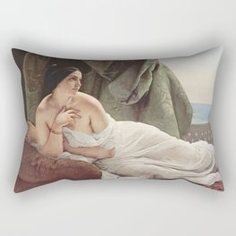 Francesco Hayez - Liegende Odaliske Rectangular Pillow