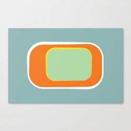 Mod Pod -Retro Turquoise Orange Canvas Print