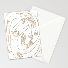 Familienwirbel hell Stationery Cards