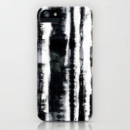 Tie-Dye Shibori Stripe BW iPhone Case