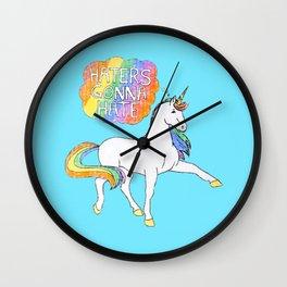 Light blue Unicorn Wall Clock