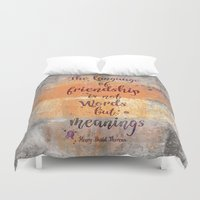 friendship Duvet Covers featuring Friendship by LebensART
