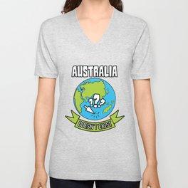 Australia doesn't exist Unisex V-Neck