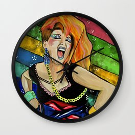 True Colors- Cyndi Lauper  Wall Clock
