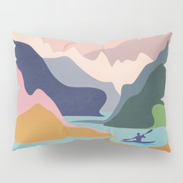 River Canyon Kayaking Pillow Sham