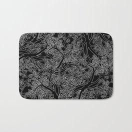 Tree Repeat Black Bath Mat