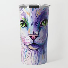 Not so white cat Travel Mug