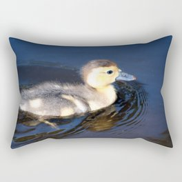 Cute Duckling Swimming in a Pond Rectangular Pillow