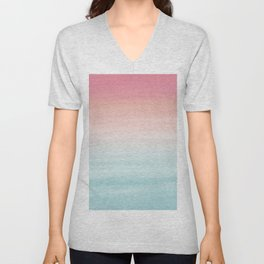 Touching Watercolor Abstract Beach Dream #1 #painting #decor #art #society6 Unisex V-Neck