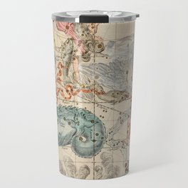 Vintage Celestial & Astrological Map  (1693) Travel Mug