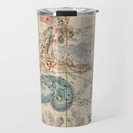 Vintage Celestial & Astrological Map  (1693) Travel Mug