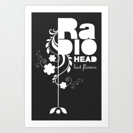 Radiohead song - Last flowers illustration white Art Print