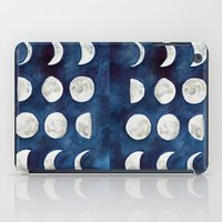 moon phases iPad Cases featuring Moon phases by Bridget Davidson