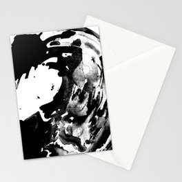 Drilling for that black gold in our oceans, black wave Stationery Cards