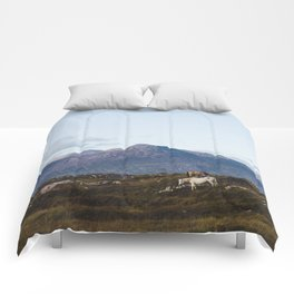 Connemara  - Horse and Mountains Comforters