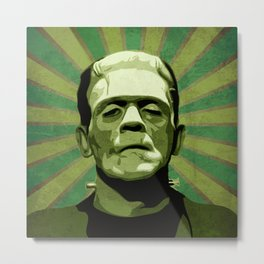 Frankenstein - Pop Art Metal Print