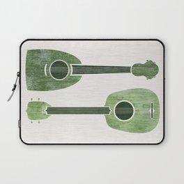 Hawaiian Ukuleles - Emerald Green Laptop Sleeve