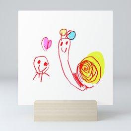 Jellyfish and Snail Mini Art Print