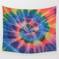 tie dye Wall Tapestries featuring Tie Dye by Yael Tal