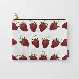 Red, Ripe Strawberries Tumbling in Rows Carry-All Pouch