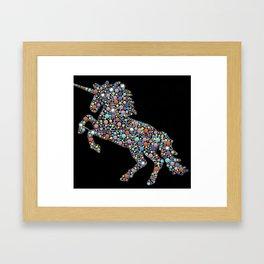 Monocerus Constellation dot art Framed Art Print