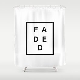FADED SQUARED Shower Curtain