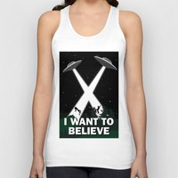 i want to believe Tank Tops featuring I want to believe by BomDesignz