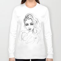 80s Long Sleeve T-shirts featuring 80s hair by Rose Richey