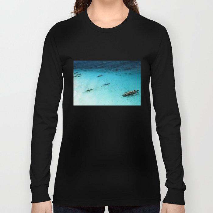 White Beach Boracay Long Sleeve T-shirt