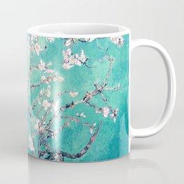 Vincent Van Gogh Almond Blossoms Turquoise Coffee Mug
