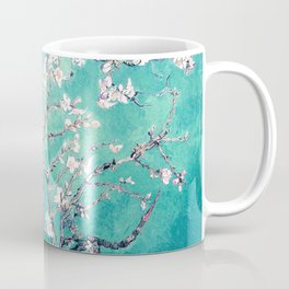 Vincent Van Gogh Almond Blossoms Turquoise Coffee Mug