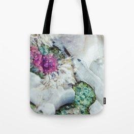 Colorful watermelon tourmaline crystal, macro #society6 Tote Bag