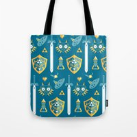 arsenal Tote Bags featuring A Hero's Arsenal by Casa del Kables