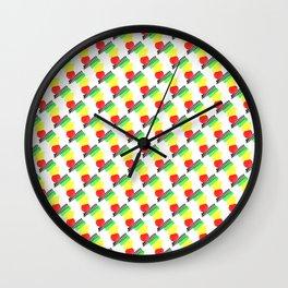 1907 Lunchmeat pattern Wall Clock