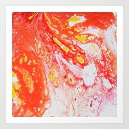 Orange Candy Coating Art Print