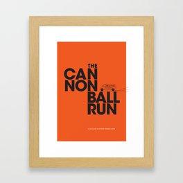 The Cannonball Run - Dodge Ambulance Framed Art Print
