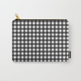 Black and White Gingham Pattern Carry-All Pouch