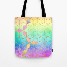 Rainbow Cubes Tote Bag