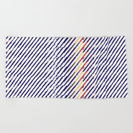 Drops of time Beach Towel