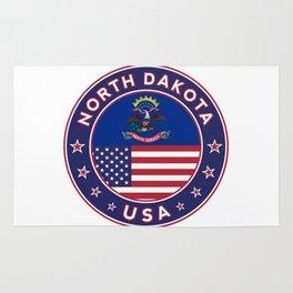 North Dakota, USA States, North Dakota t-shirt, North Dakota sticker, circle Rug