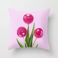 TULIPOP PINK Throw Pillow
