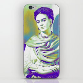 Viva la Frida | Purple and green halftone iPhone Skin