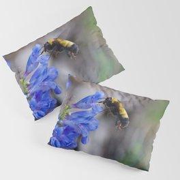 Rustic Bumble Blue Pillow Sham